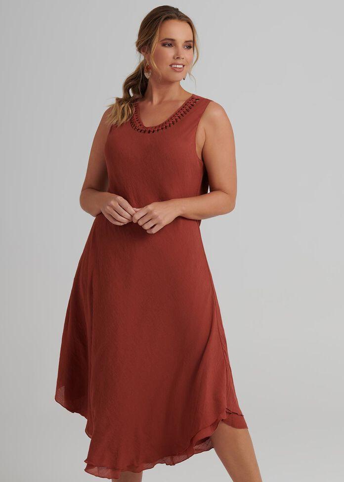 Plait Neck Dress, , hi-res