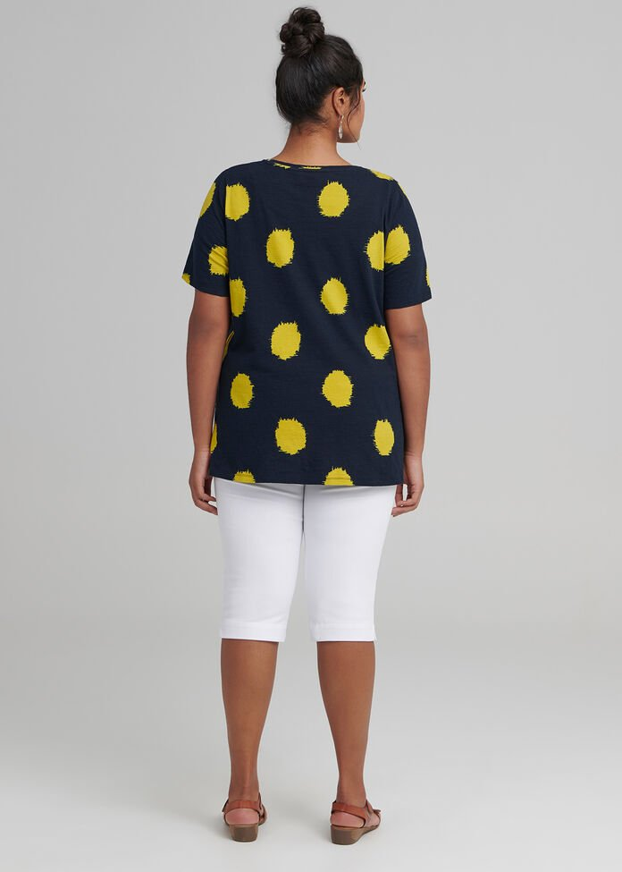 Circles Short Sleeve Top, , hi-res