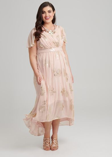 Shimmer High Low Dress