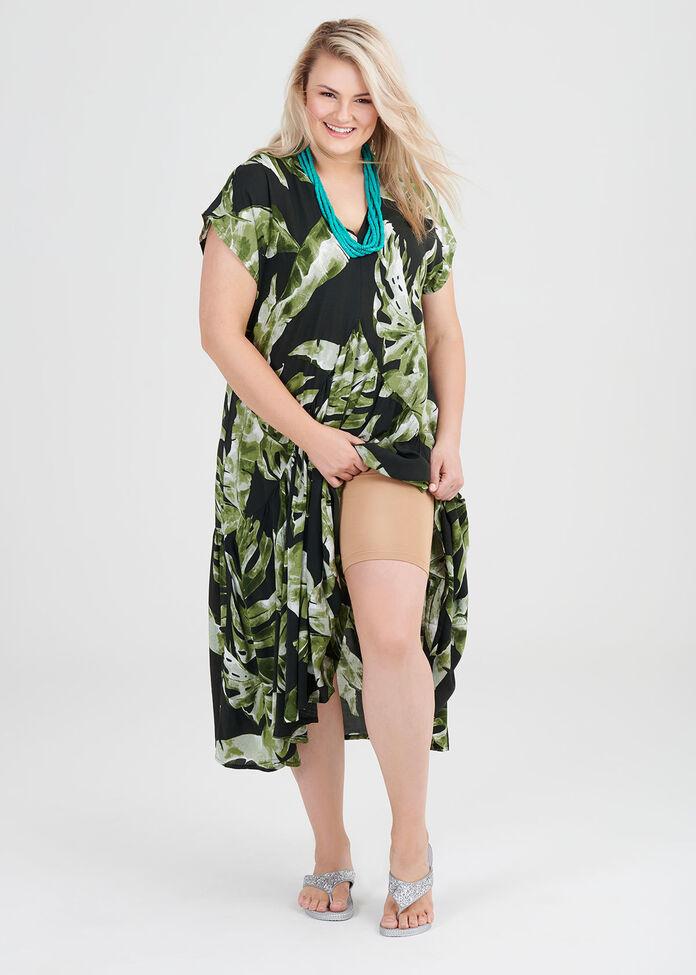 Natural Lush Jungle Dress, , hi-res