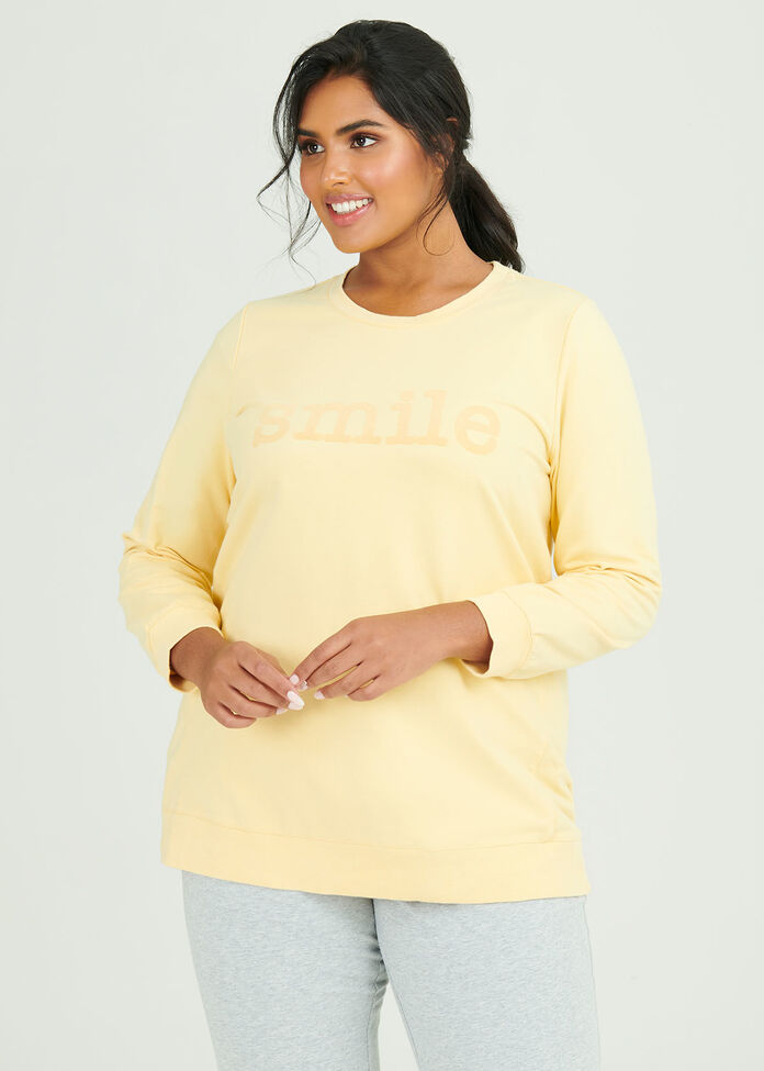 Organic Smile Sweat Top, , hi-res