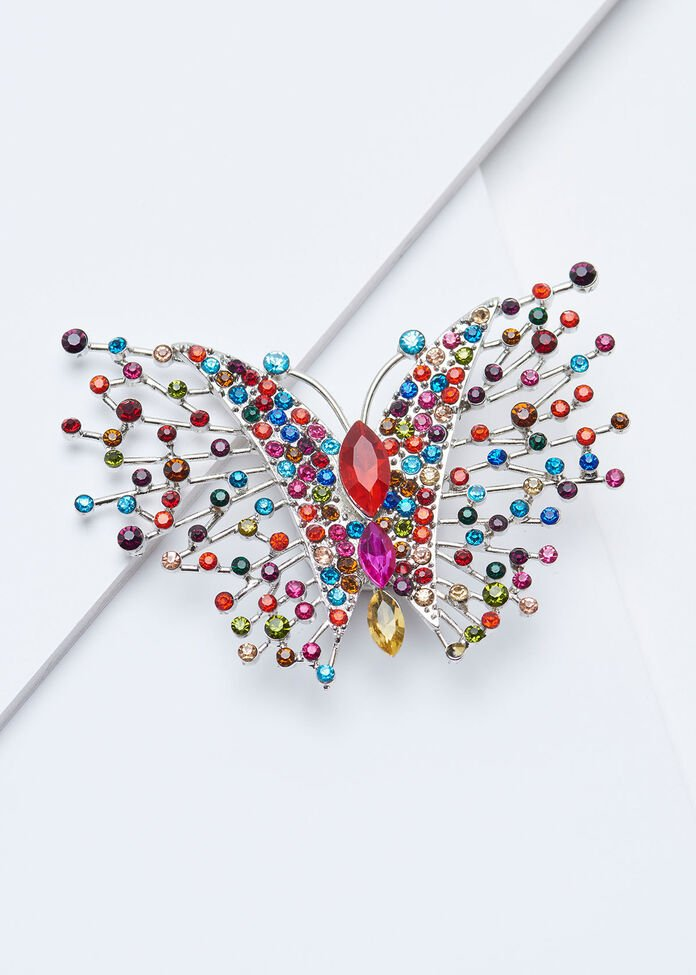 Bright Butterfly Brooch, , hi-res