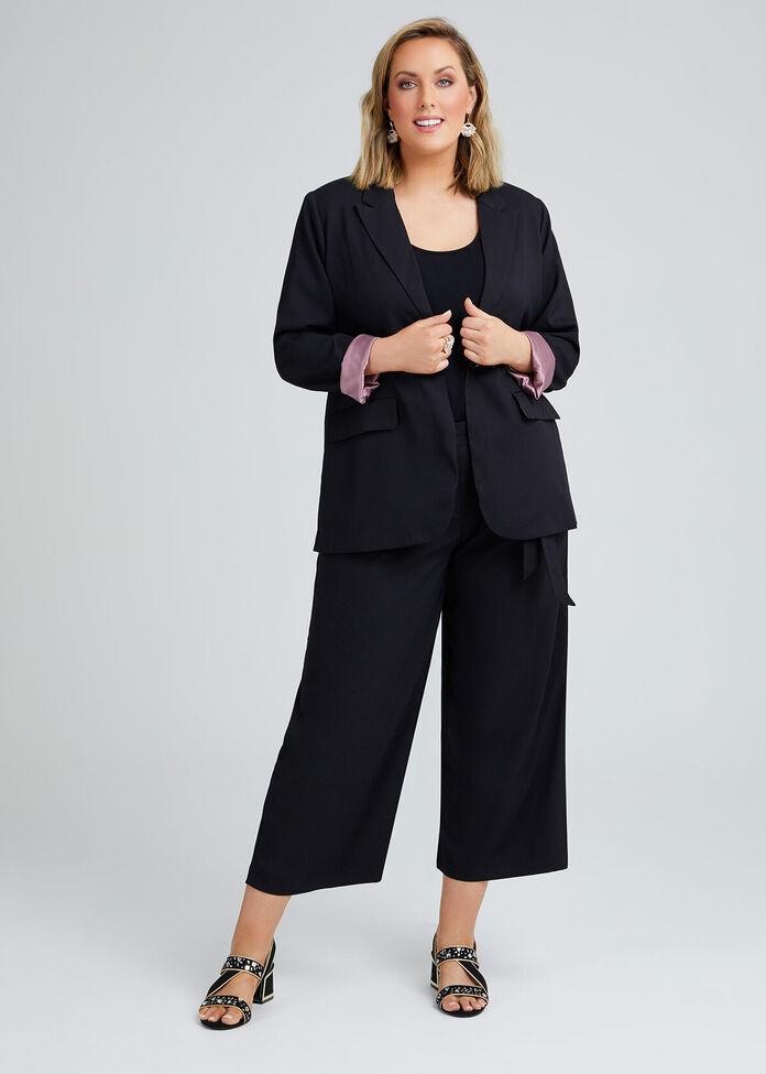Noir One Button Lined Jacket, , hi-res