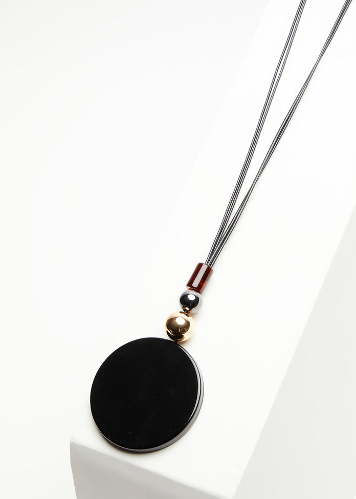 Resin Pendant & Bead Necklace, , hi-res