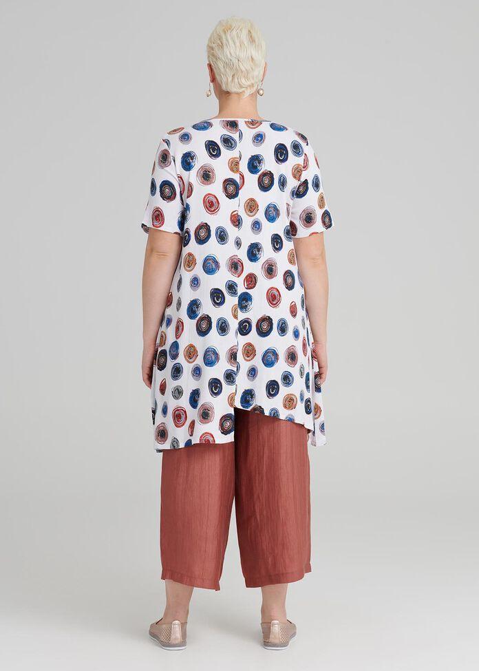 Resort Spot Linen Tunic, , hi-res