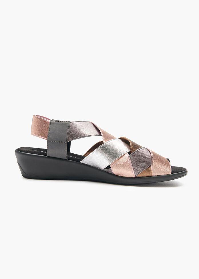 Abby Elastic Weave Sandal, , hi-res