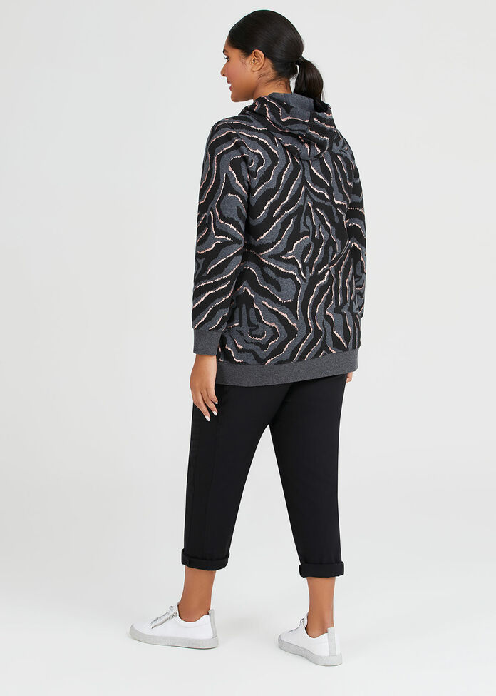Zebra Foil Hoodie, , hi-res