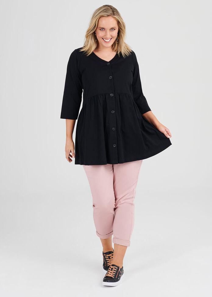 Organic Button Tunic, , hi-res