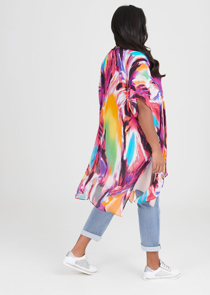 Colour Twist Cape, , hi-res