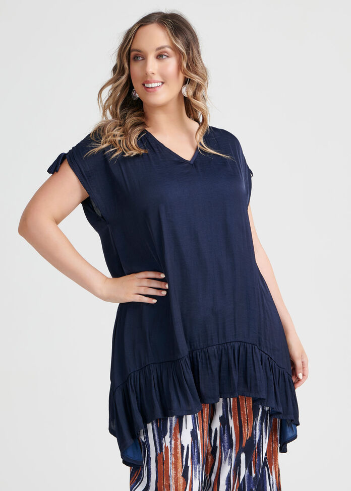 Luxe Blue Lady Tunic, , hi-res