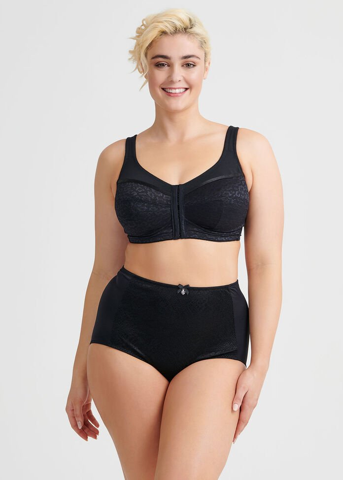Wirefree Front Opening Bra Sizes 14-18, , hi-res