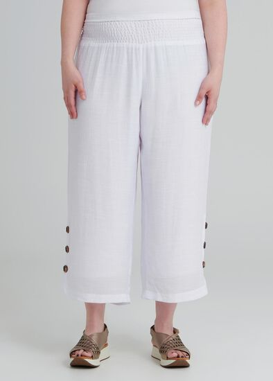 Tall Button Crop Pant
