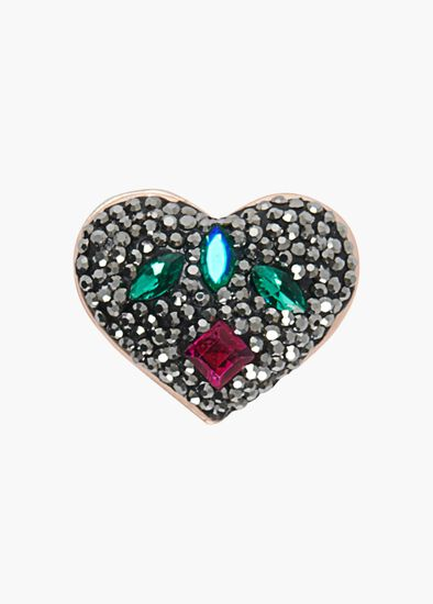 Bejeweled Heart Brooch