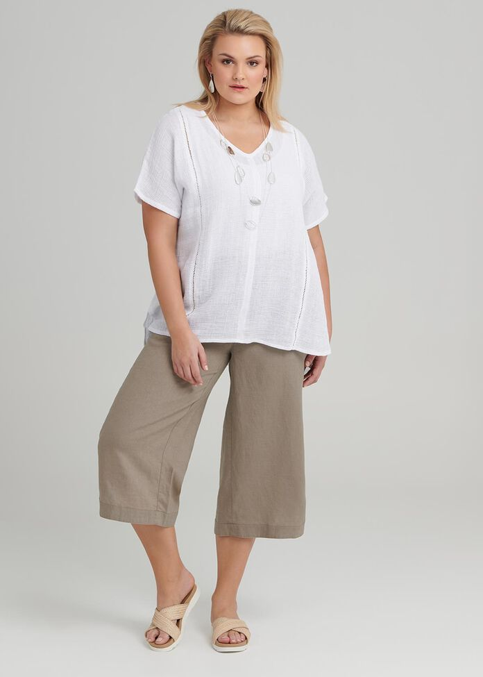 La Cite Linen Crop Pant, , hi-res