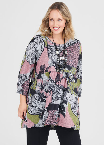 Cosy Print Mix Tunic