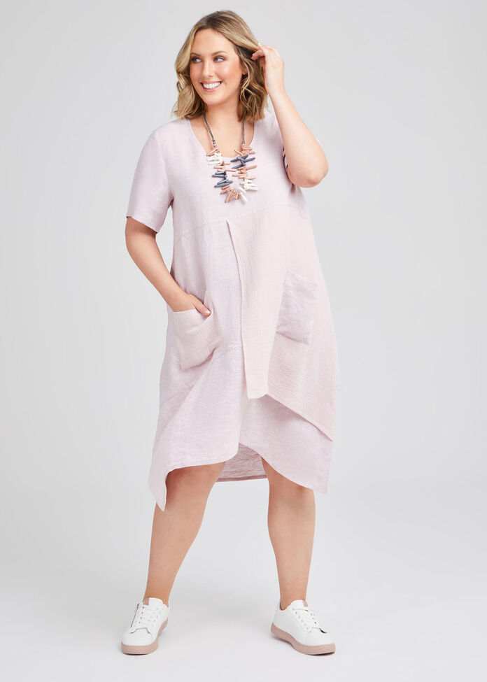 Namaste Linen & Gauze Dress, , hi-res