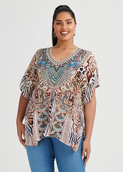 Wild Side Viscose Top