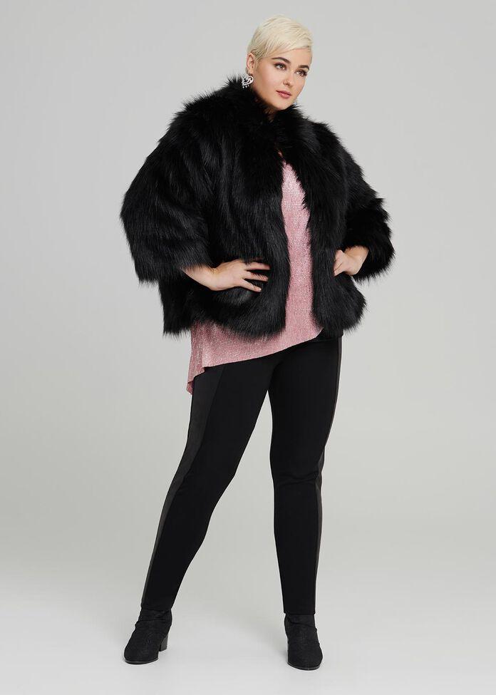 Iconic Faux Fur Jacket, , hi-res