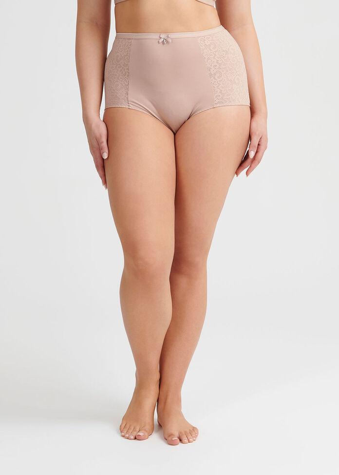 Comfort Lace Trim Brief, , hi-res
