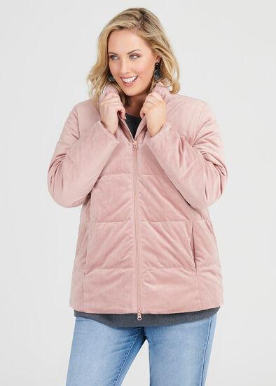 Plush Velvet Puffer Jacket