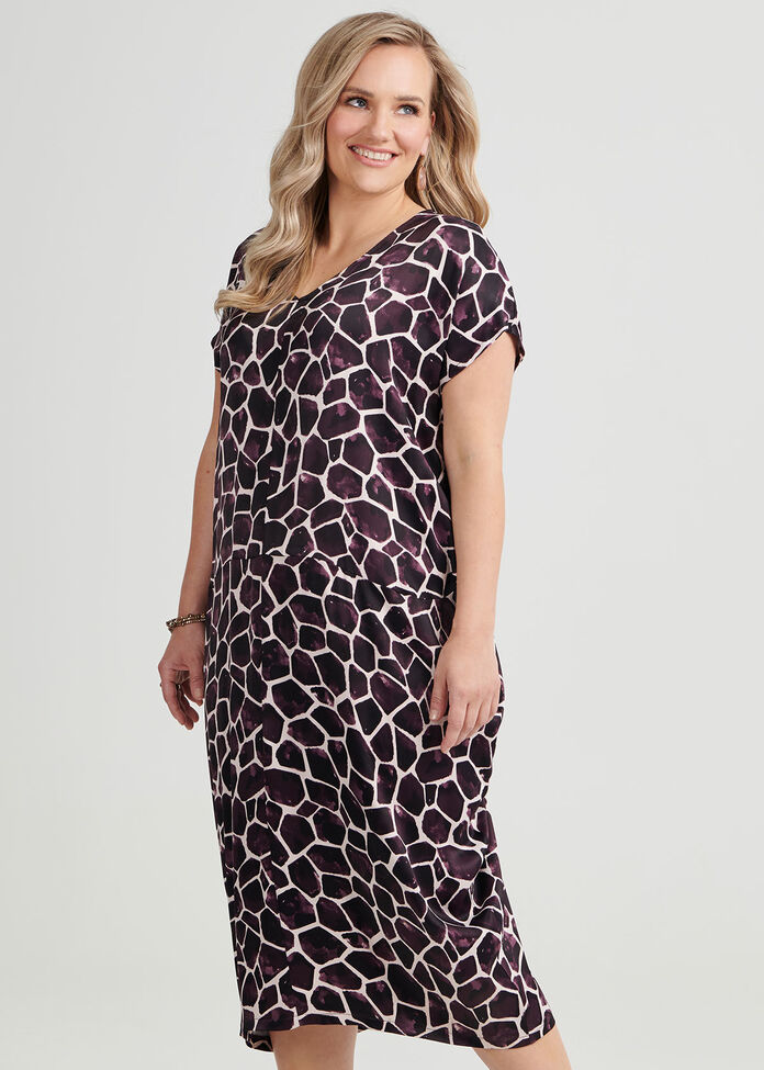 Chloe Giraffe Print Dress, , hi-res