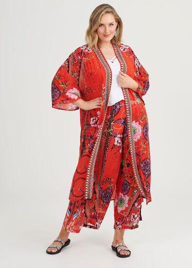 Rosy Outlook Natural Kimono
