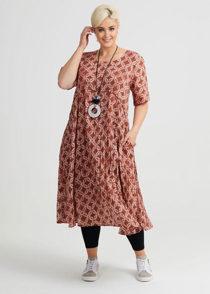 Batik Cotton Dress, , hi-res