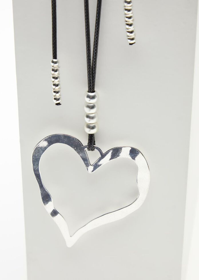 Silver Heart Necklace, , hi-res