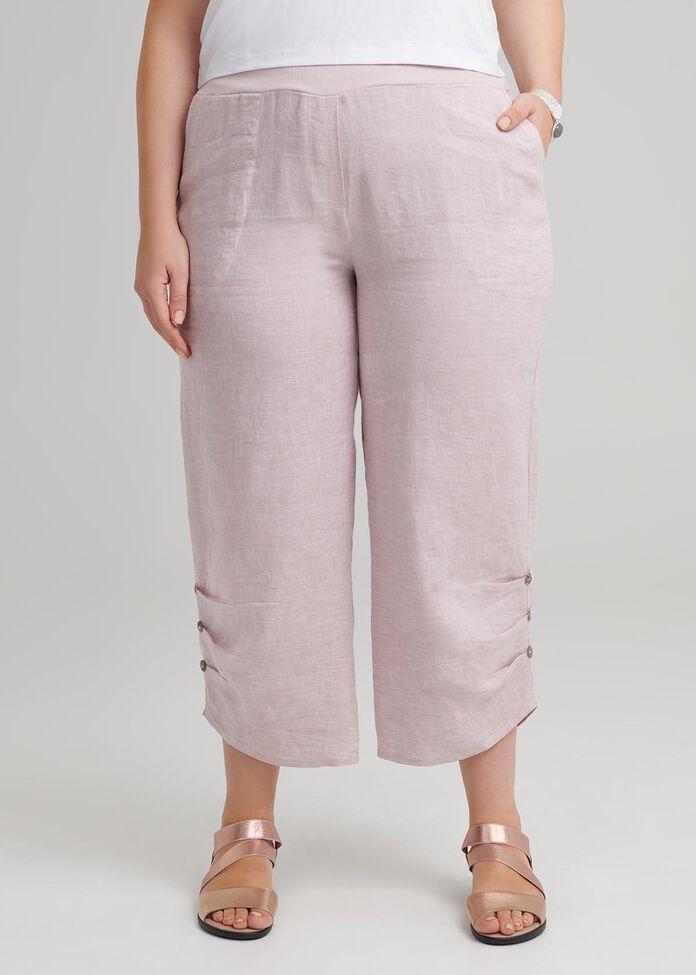 Shore Crop Linen Pant, , hi-res