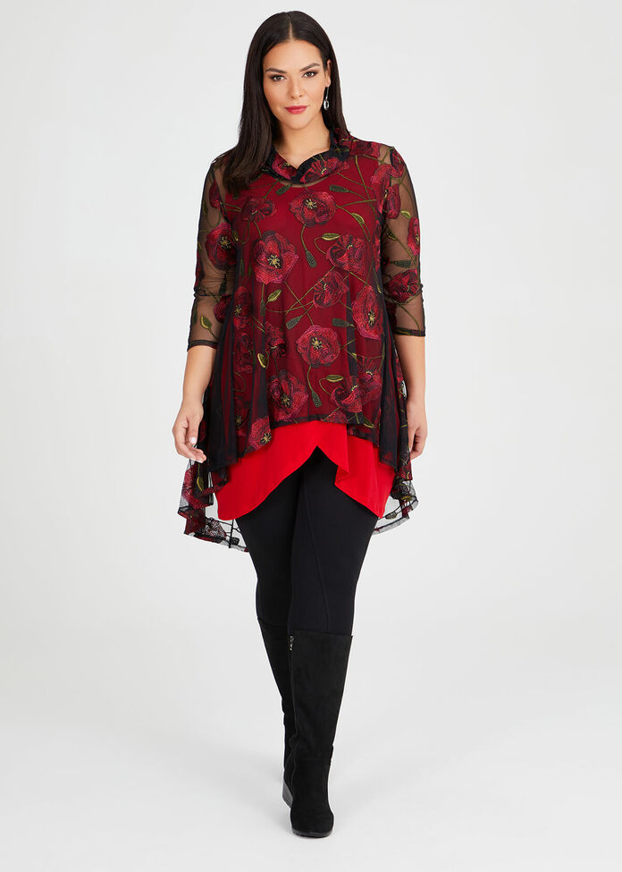 Poppy Red Tunic, , hi-res
