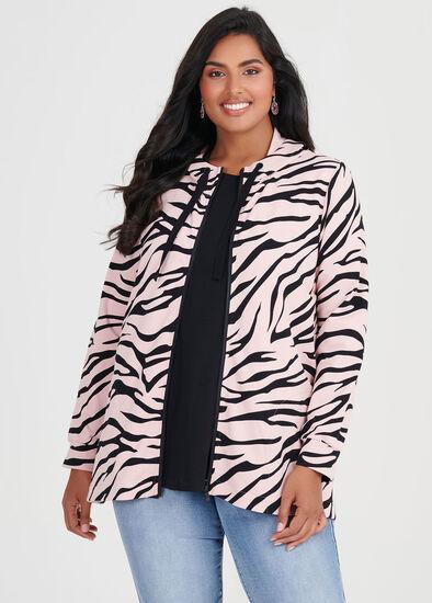 Organic Zebra Hooded Top