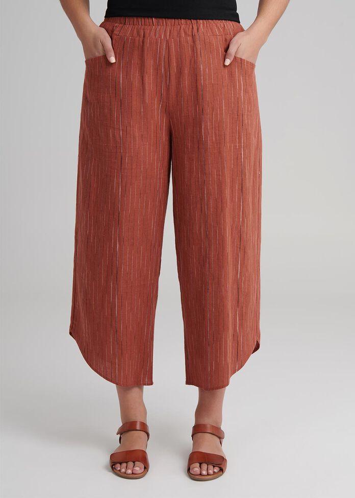 Linen Layla Crop Pant, , hi-res