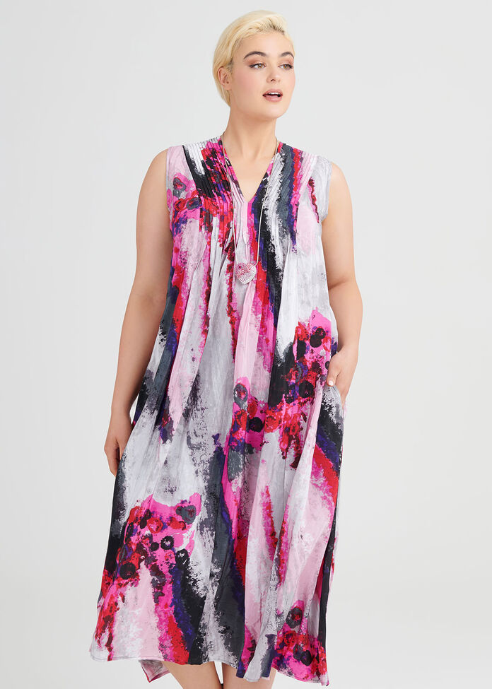 Calypso Maxi Viscose Dress, , hi-res