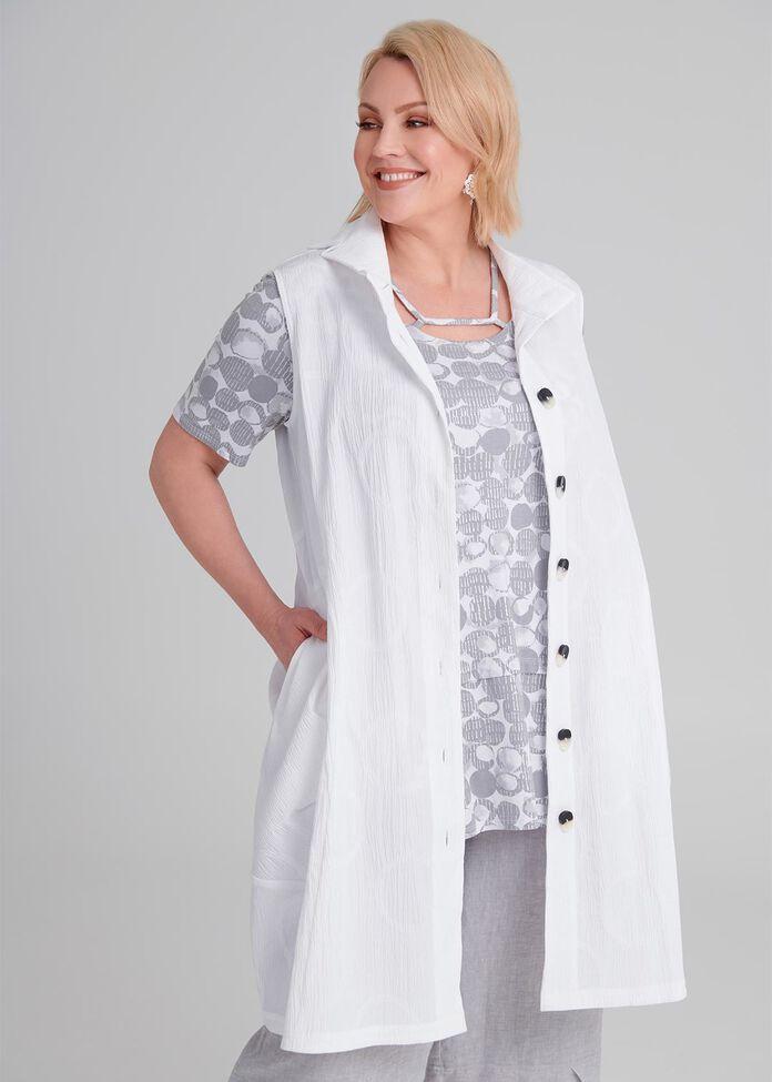 Isabelle Jacquard Vest, , hi-res