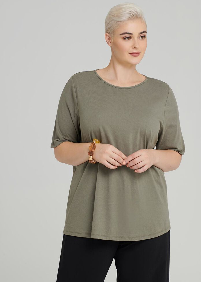 Easy Wear Short Sleeve Top, , hi-res