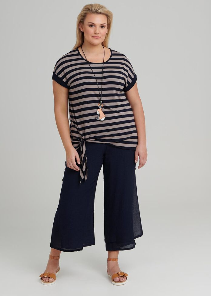 Stripe Knot Top, , hi-res