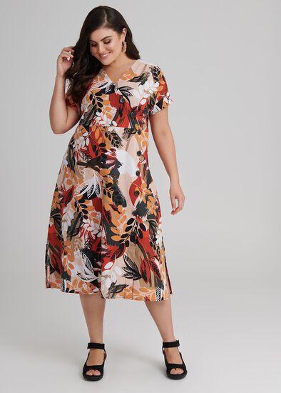 Sarari Spice Linen Dress