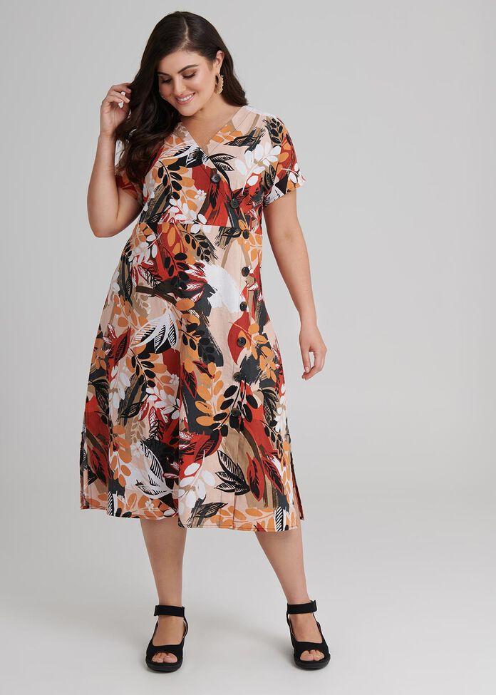 Sarari Spice Linen Dress, , hi-res