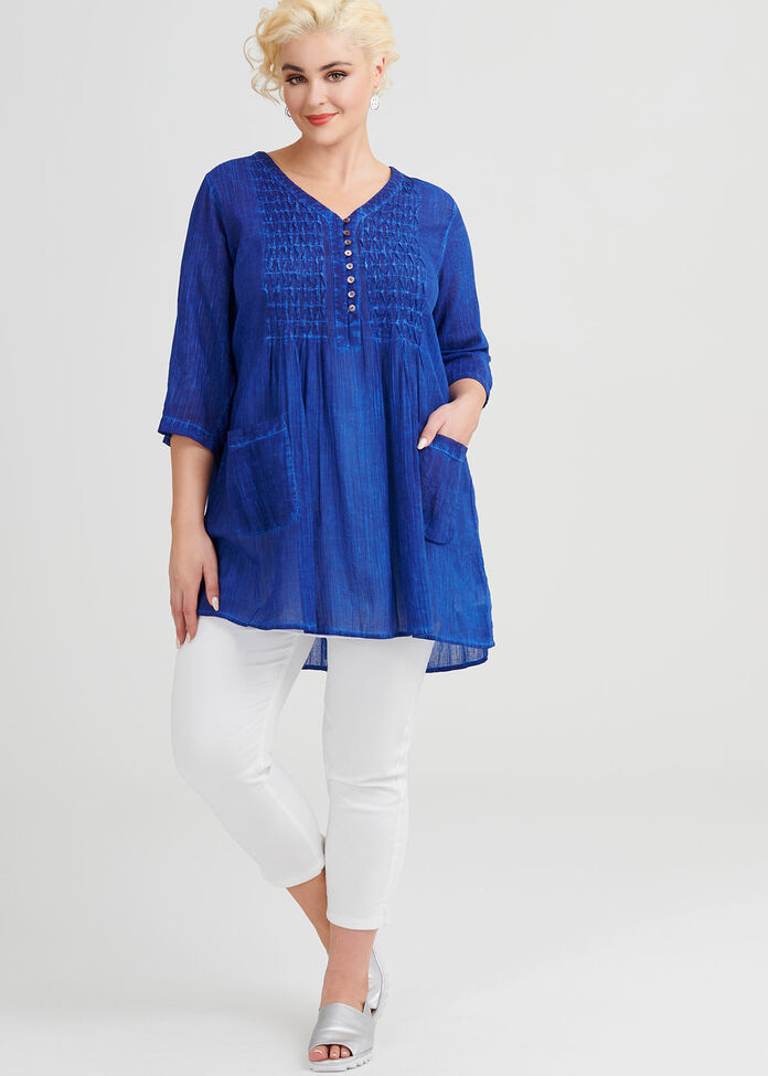 Cotton Pigment Tunic, , hi-res