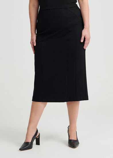 Gina Panelled Ponte Skirt