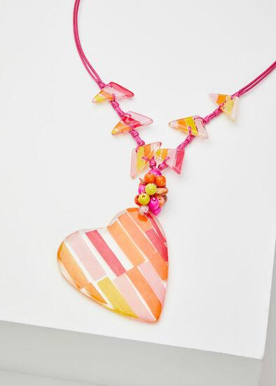 Heart Stripe Necklace