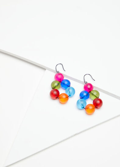 Bright Frosted Resin Earrings