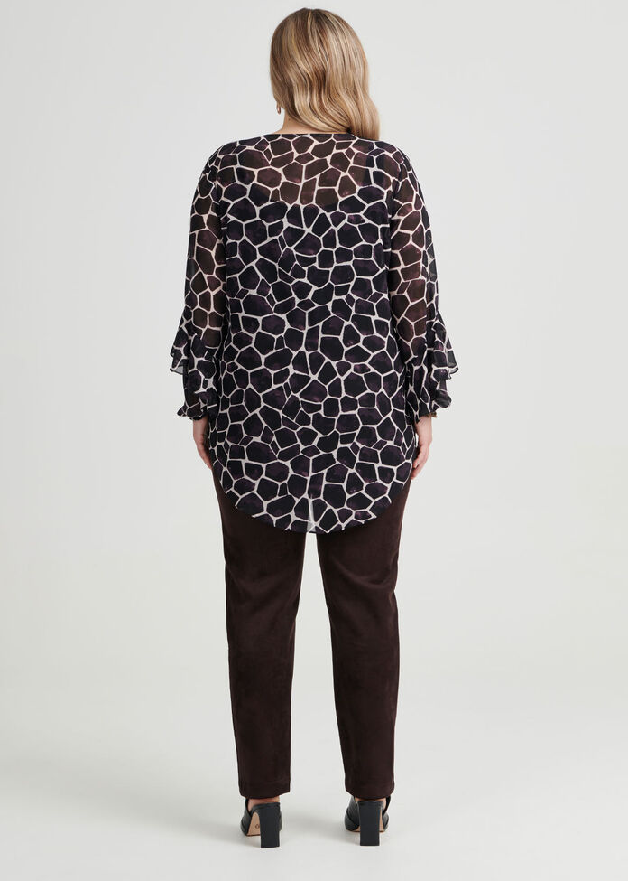 Eliza Giraffe Print Blouse, , hi-res