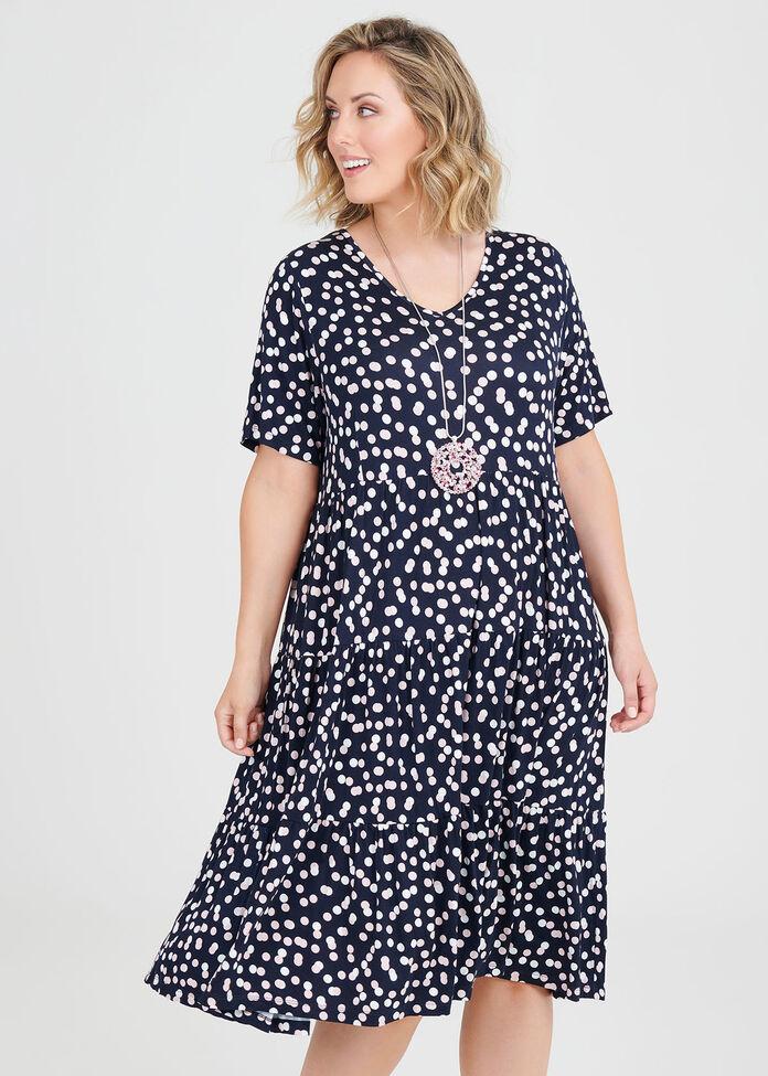 Bamboo Spot Dress, , hi-res