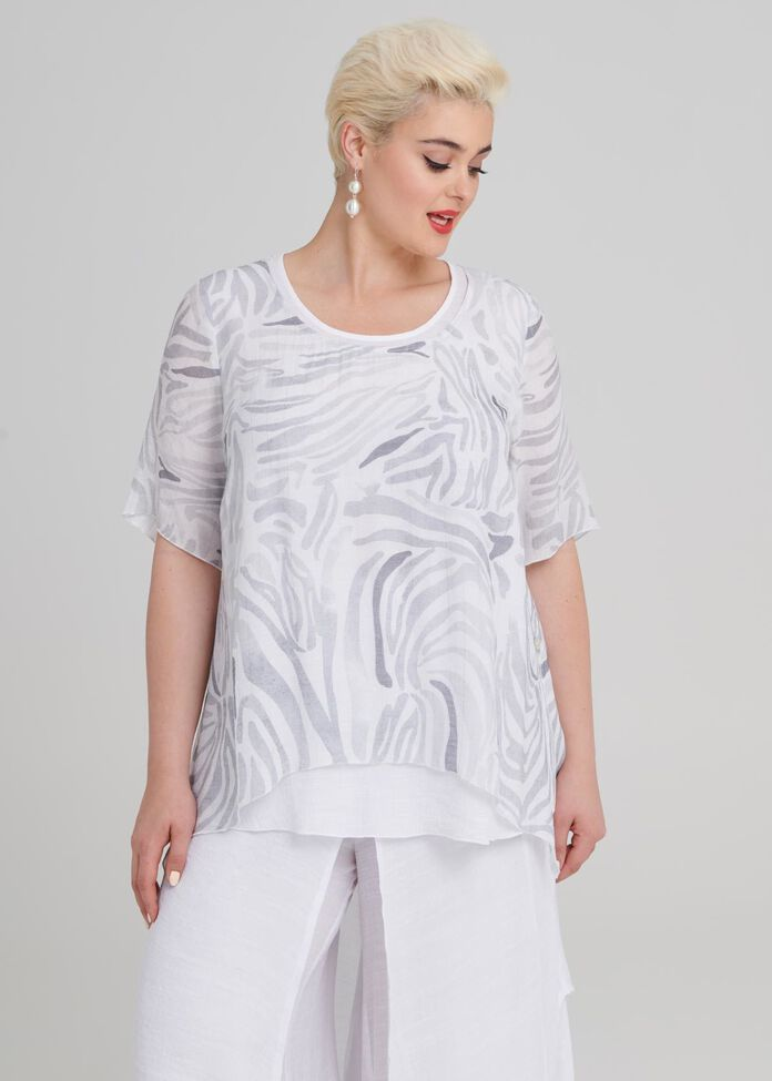 Soft Zebra Tunic, , hi-res