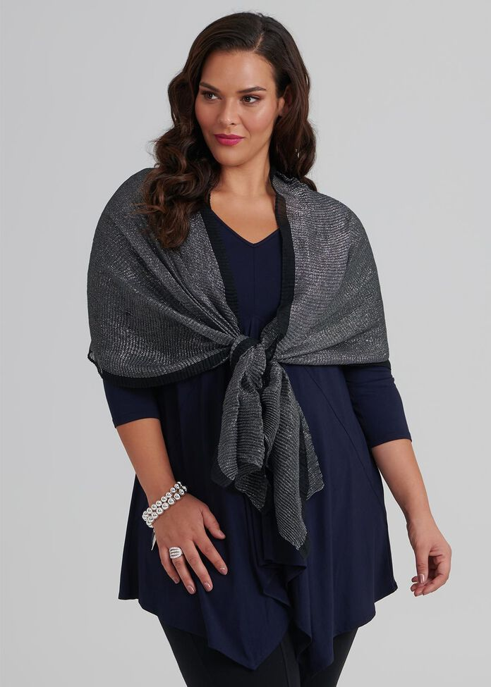 Shimmer Pleat Scarf, , hi-res