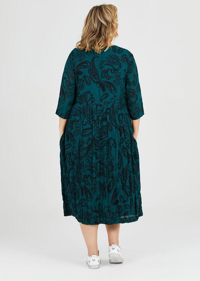 Cotton Paisley Dress, , hi-res