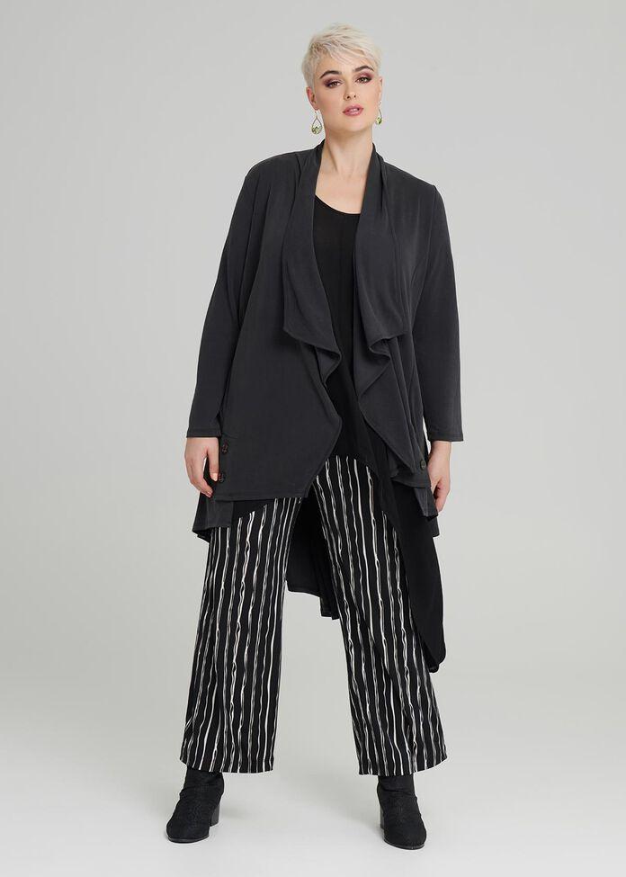 Chalk Stripe Wide Pant, , hi-res