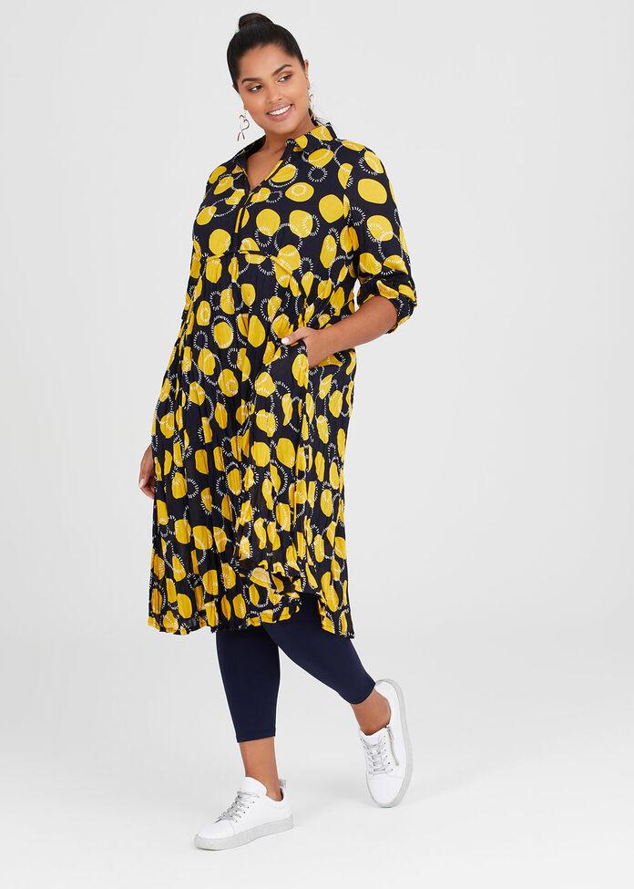 Cotton Circles Dress, , hi-res