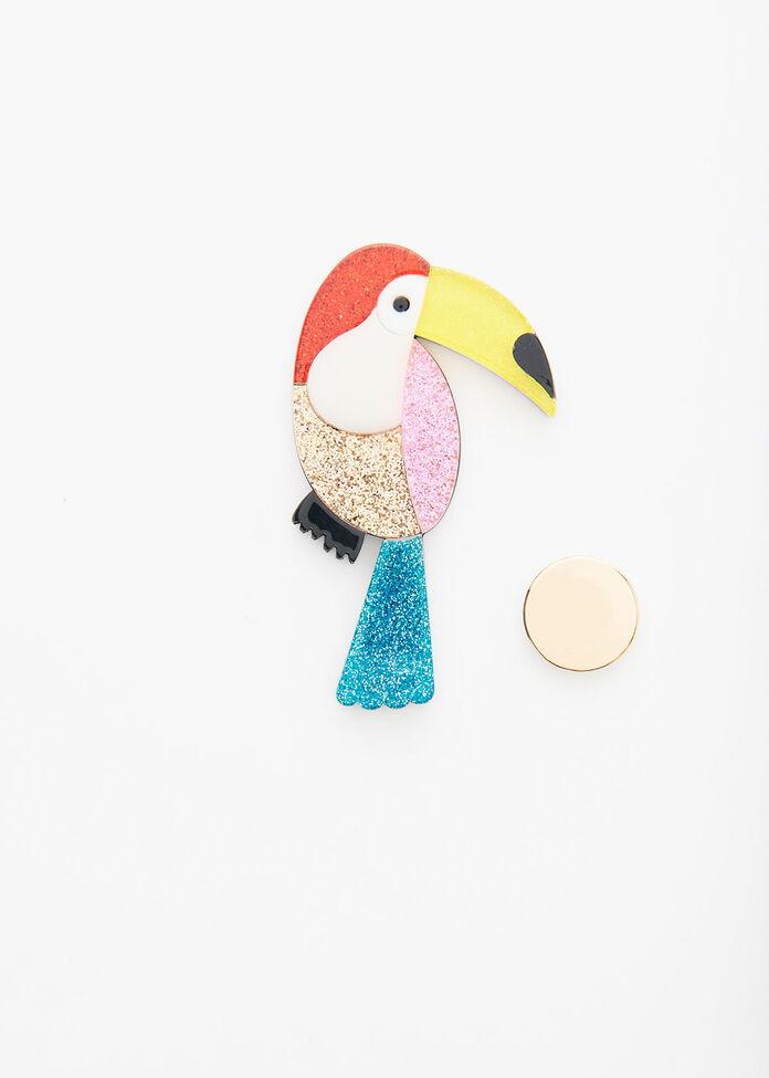 Toucan Brooch, , hi-res